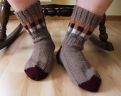 on sale Cherry tip hand knitted Men's Socks EU 44, 45 - US 10,5, 11, 11,5 black friday cyber monday