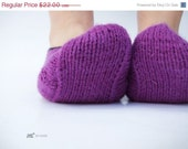 on sale Purple hand knitted socks for women or girl black friday cyber monday