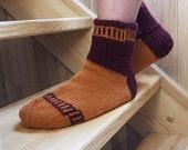 SALE 20 % Orange virus Men's socks EUR 43-44, US 10 / 10,5 / 11