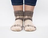 Pastel soft an cozy hand knitted socks for women