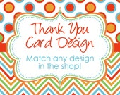 Add-on Matching Thank you card DIY Design for any design in our shop YOU PRINT thank yous digital