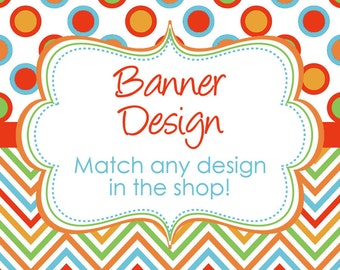 Matching Bunting Banner Design digital YOU PRINT DIY match any design in my shop Your Choice of Shape