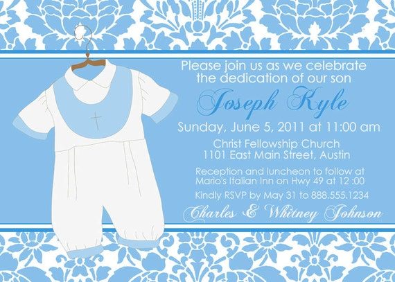 Baptismal Invitation Boy as best invitation sample