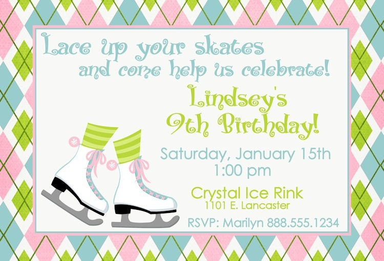 Skating Party Invitations Free Printables with amazing invitations example