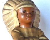 Vintage Plastic Native American Indian Figurine