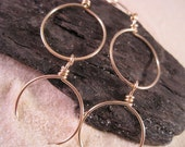Double-O Hoops - 14k Rose Gold