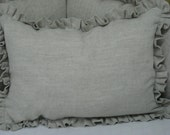 Ruffled Crib Pillow in Linen-Poly Pillow Insert Included