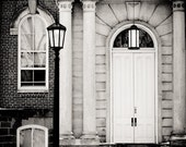 Door of Old Main - Photograph - Matted 5x7
