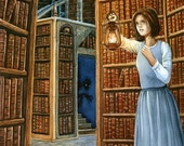 The Library - Watercolor painting