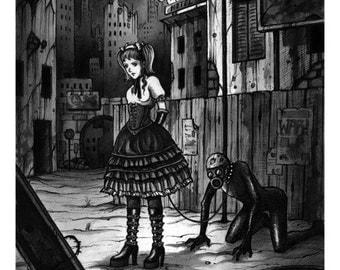 Radioactive Lolita - Ink drawing