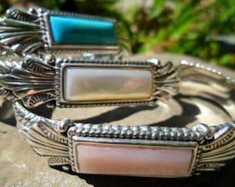 Carolyn Pollack Relios South Western Sterling Silver Cuff