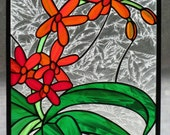 Coreopsis Stained Glass Panel