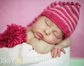 Striped elfin hat (two colors of your choice)