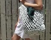 Crocheted Plarn Tote Bag