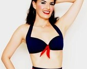 High Waist  Bikini Garbo in Indigo  sizes  xs to  xl  (separates)  Ships Free