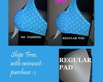 swimsuit bra padding cups light