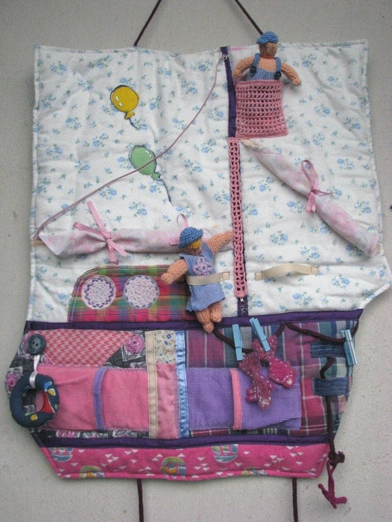 Interactive waldorf toys - Ship for doll Anna and Nick