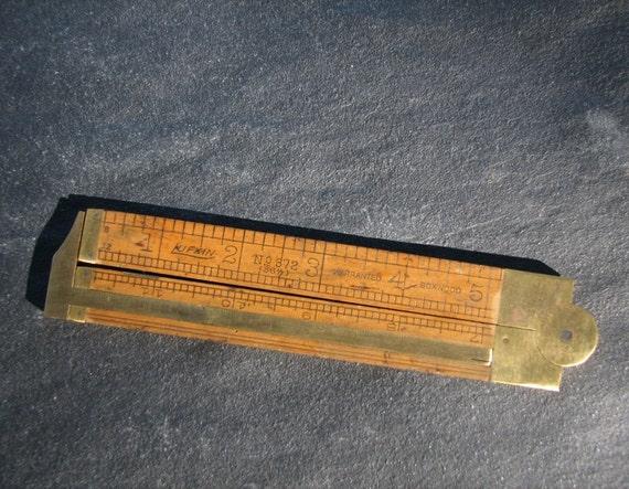 Antique Lufkin Folding Ruler No 372
