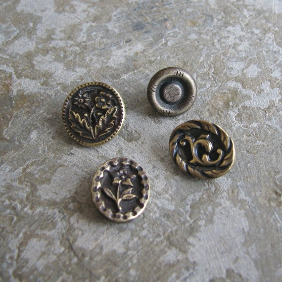 Antique Ornate Victorian Buttons