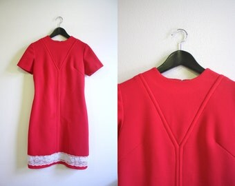 Pink Dress / 60s Shift Dress