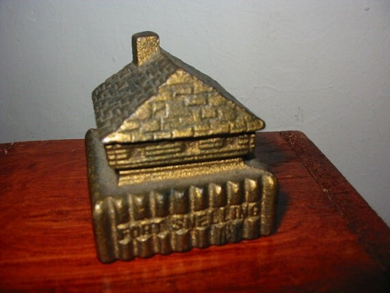 Old Fort Snelling Block House MN Cast Iron Miniature Building