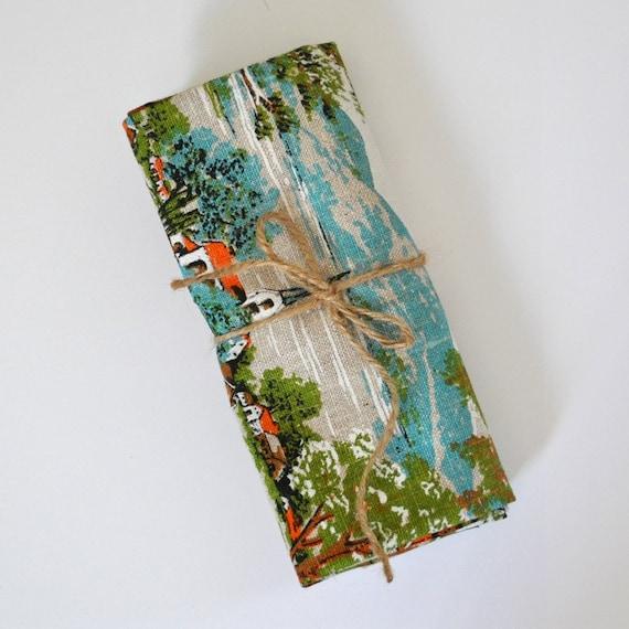 SALE vintage scenic tea towel