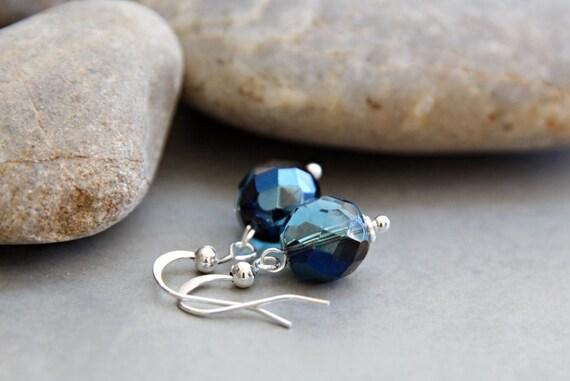 Ocean Treasures -  Brilliant Blue Crystal Earrings