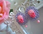 Lollipop Cameo Earrings
