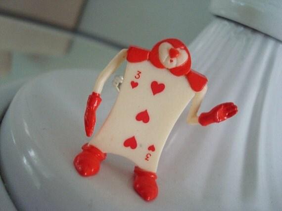 Alice in Wonderland Card Soldier Ring