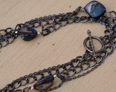 Gunmetal and Shell Necklace