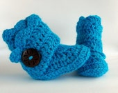Teal Crochet Shell Wrap Boots- Choose Your Size