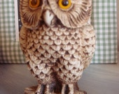 circa 1970 vintage owl figurine for collectors or lovers