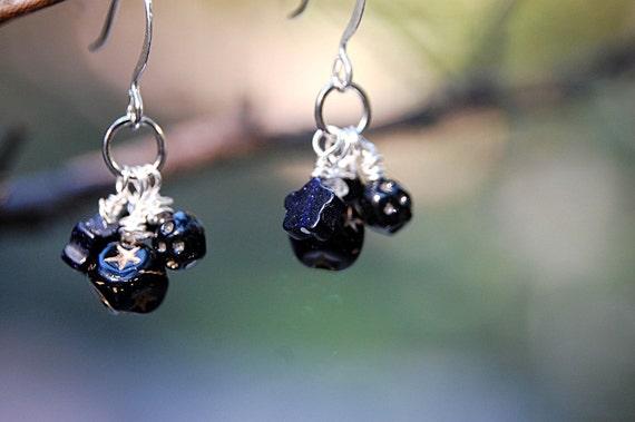 Starry starry night earrings