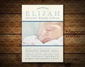 Hello World - Vintage Baby Birth Announcement Deposit