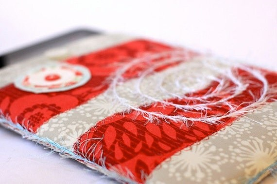 Award Winning iPad Sleeve - Red and Grey