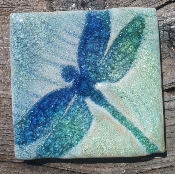 Dragonfly Four Inch Tile