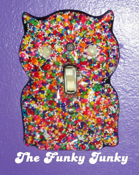Sweetie The Owl - Resin Light Switch Cover with Glow in the Dark Eyes