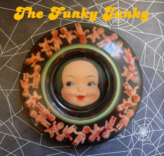 Dead Baby Ash Tray Resin Creepy Halloween Decoration