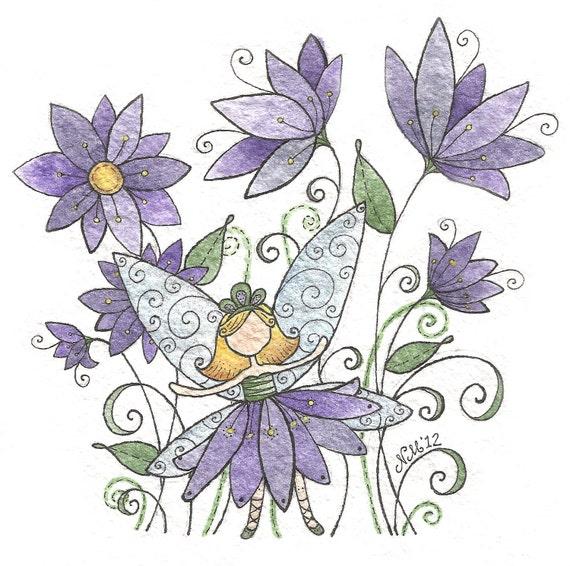 Plum Fairy - Moon Cookie Gallery Print
