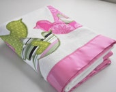 Organic Love Birds Baby Blanket -- New Baby Size -- Personalized for Free