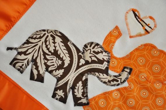 Mama and Baby Elephant Organic Newborn Baby Blanket -- Free Shipping
