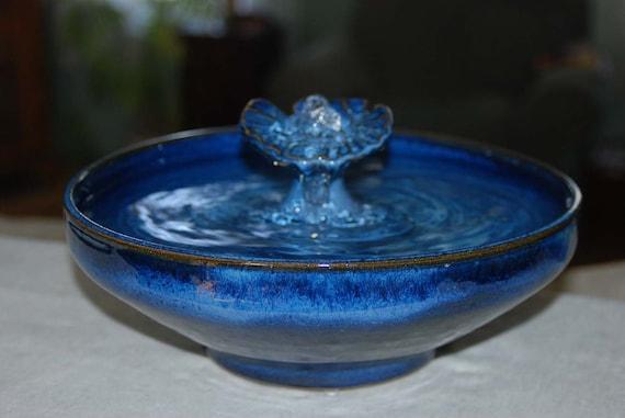 "Handmade, Food-safe, Ceramic Cat Fountain, ""Neptune"""