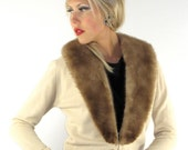 Vintage 50's GLAMOUR DOLL Pin Up Cashmere & Mink Fur Sweater
