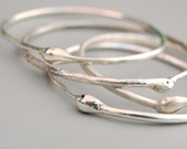 Silver Ouroboros Infinity Bangle: X-Small - Small -- Year of the Snake