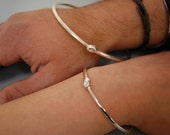 Silver Ouroboros Bangle: His-Hers Set