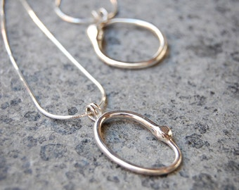 Sterling Silver Ouroboros Infinity Pendant