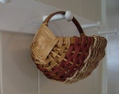 Handwoven Melon Basket with Seagrass