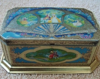 1920s ARTSTYLE Lithograph Chocolate Candy Box