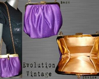 1950's Jewel Tone Purple Evening Bag