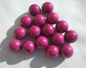 Larger Magenta round beads